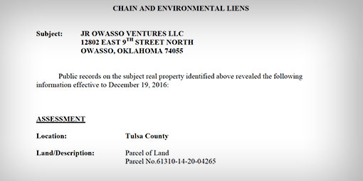 Environmental Lien & AUL Report Photos